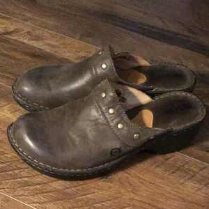 Born size 8 brown clogs
